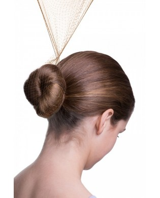 Set of 3 hair nets for light brown hair