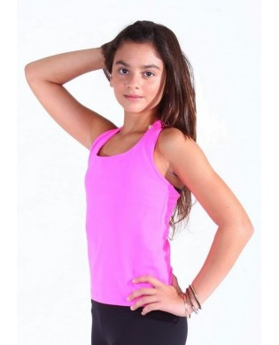 Fitness Girl Racerback Tank Top Pink