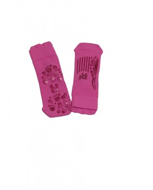 Children anti-slip socks pink fuchsia