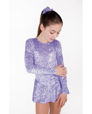 Purple and Silver Figure Skating Dress for girls