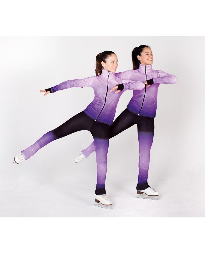 Pantalon de Patinage Femme et Enfant Noir et Violet