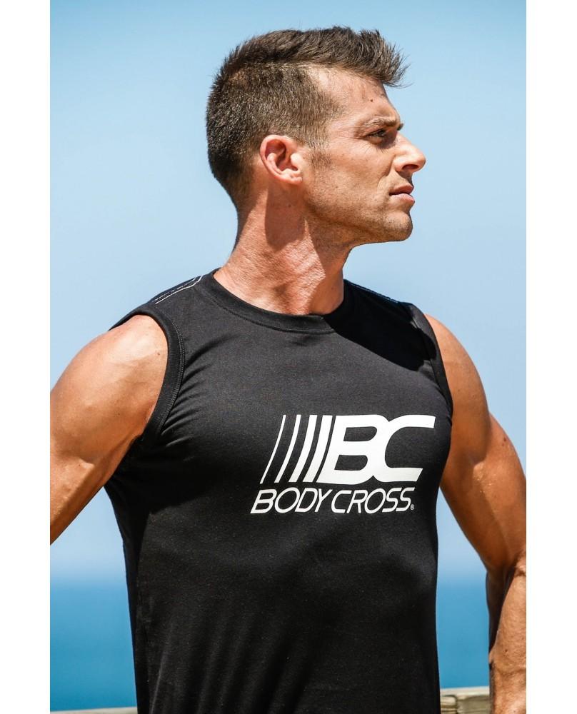 Débardeur Homme Musculation & Running Noir