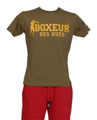 Boxeur Des Rues Exklusive-Serie T-Shirt Logo Franz/ösischer M/änner Flagge
