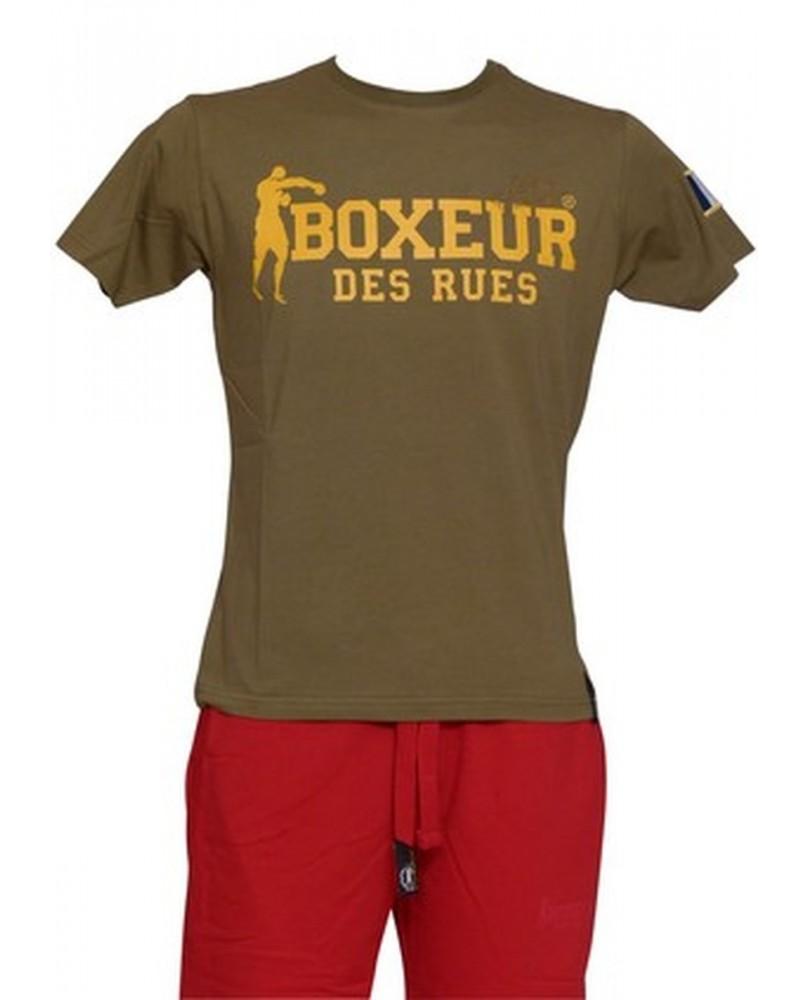 T-Shirt Sport Homme Flag France Kaki