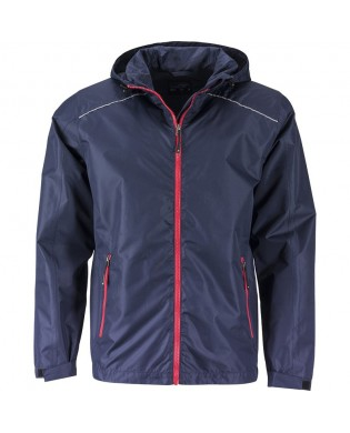 Man running rain jacket