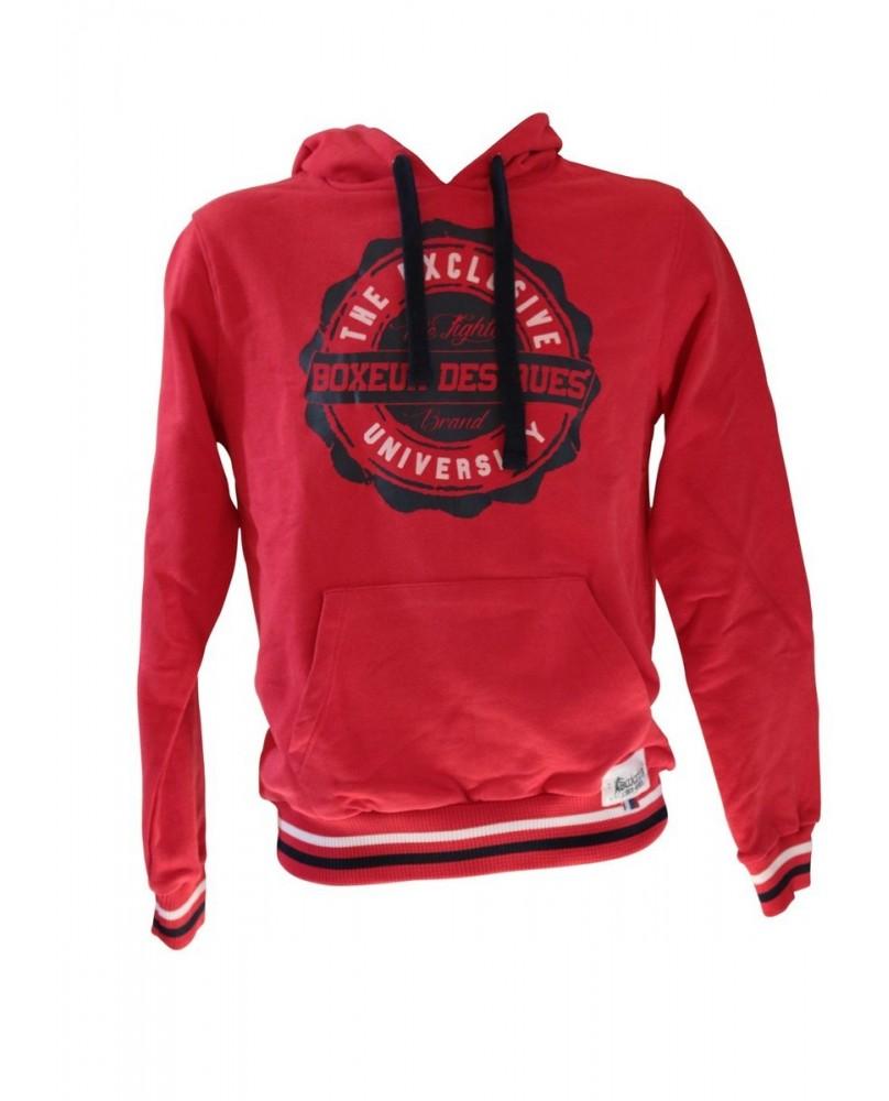 Sweat Shirt Homme Boxeur des Rues Rouge