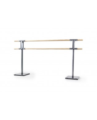 PINA portable Double dance barre with wheels