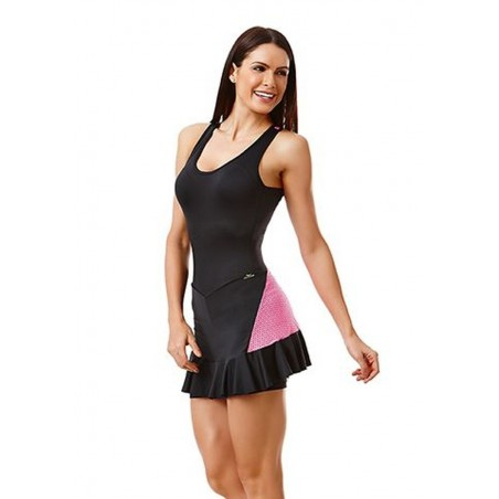 Black and Pink Dance Dress
