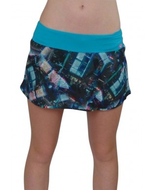 Blue Tafetas Running Skirt
