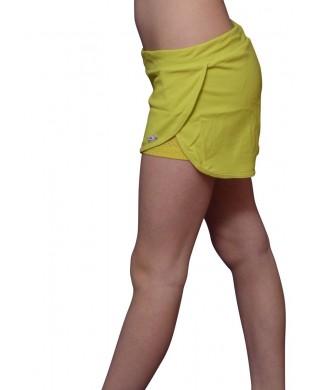 Short Running Femme Vert Pomme