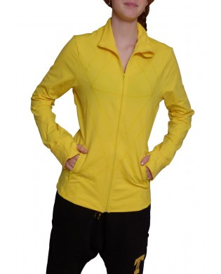Sporty Women's Jacket in Bright Yellow