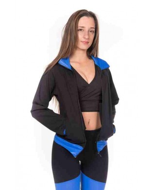 Veste Fitness Danse Femme Noir Bleu