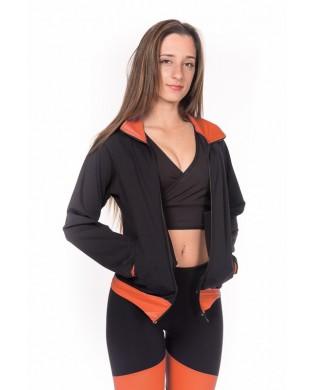 Black and Orange Women's Sport Jacket