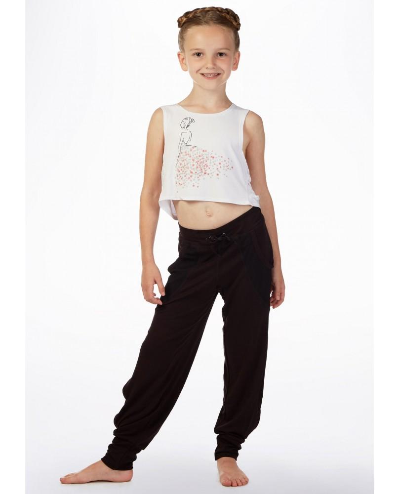 Modern Jazz Tanz Crop Top für Mädchen Weiß