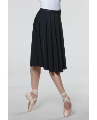 Black opaque dance skirt