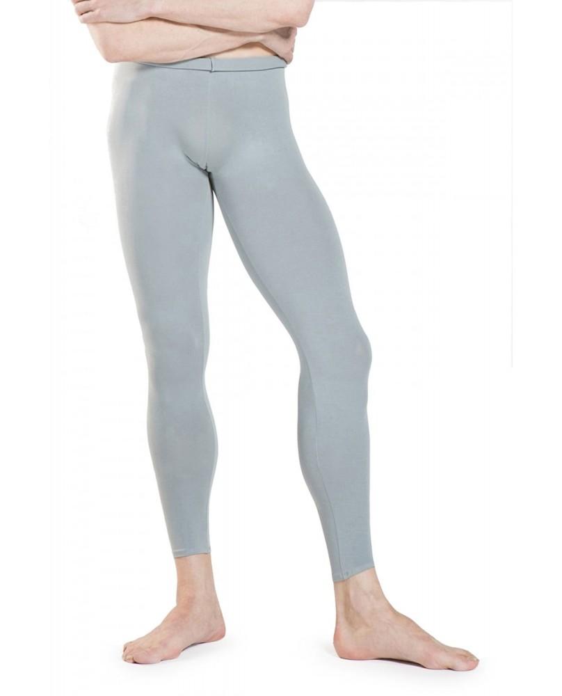 Footless Men's, boys Dance tights Grey
