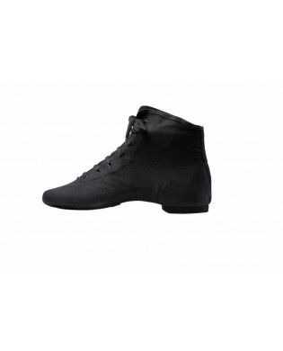 Chaussure Jazz Montante à Lacets Noir de type bottine