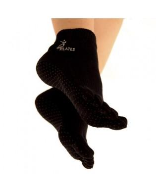 Chaussettes Pilates Noir avec Orteils