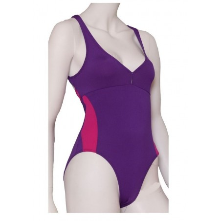 Aquagym Swimsuit Purple and Pink