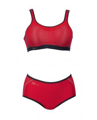 Culotte Panty Sport Femme Rouge