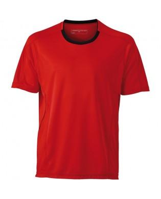 T-Shirt Running Homme Rouge