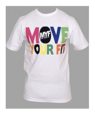 T-Shirt Move Your Fit Blanc Multicolor Taille Large