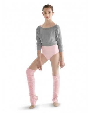 Long pink girl leg warmer