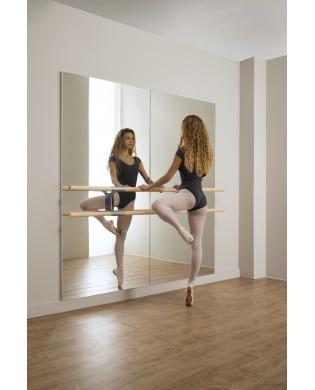 Miroir mural Amadeus pour salle de danse avec barre
