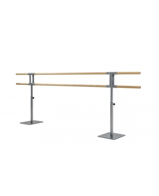 Height adjustable double ballet barre Gisèle without wheels