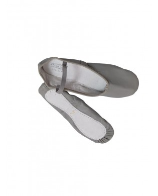 Gray Leather Ballet Slipper ECLAT