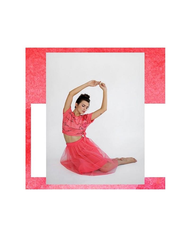 Jupe de Danse Femme en Tulle Rouge Corail