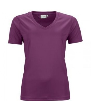 Women's V-Neck Short Sleeve Sport T-shirt