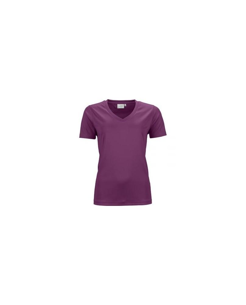 T-Shirt Sport Femme col V