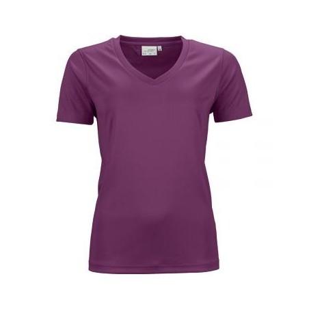 Women's V-Neck Short Sleeve Sport T-shirt