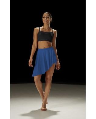 Jupe de danse en voile Asymétrique bleu
