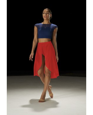 Open dance skirt on the front MS118