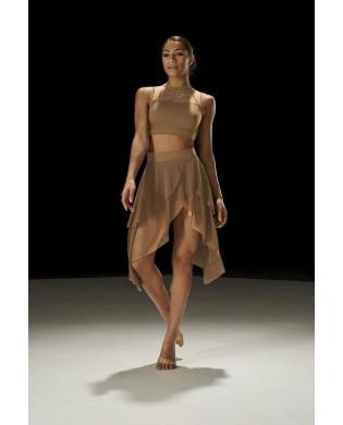 Double asymmetrical dance skirt