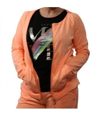 Sweat Shirt avec zip orange