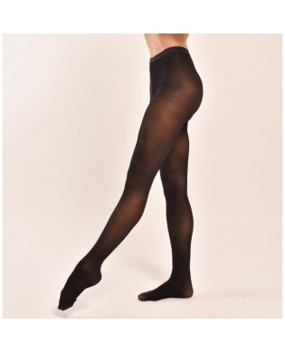 Black opaque dance footed tights
