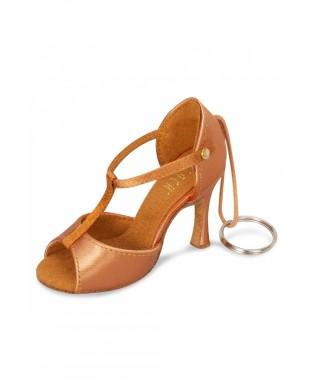 Mini Latin dance shoe keychain