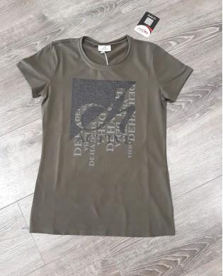 T-Shirt Femme Active Kaki