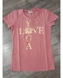T-Shirt Manches Courtes Love Yoga