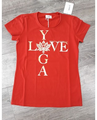 T-Shirt Manches Courtes Love Yoga