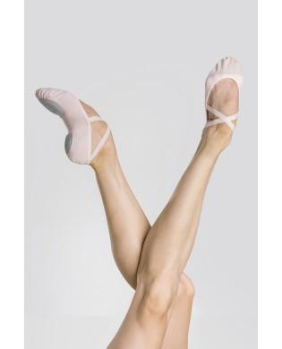 Rosa Stretsch Stoff Ballettschläppchen Ceres von Wearmoi in Größen 29 bis 35