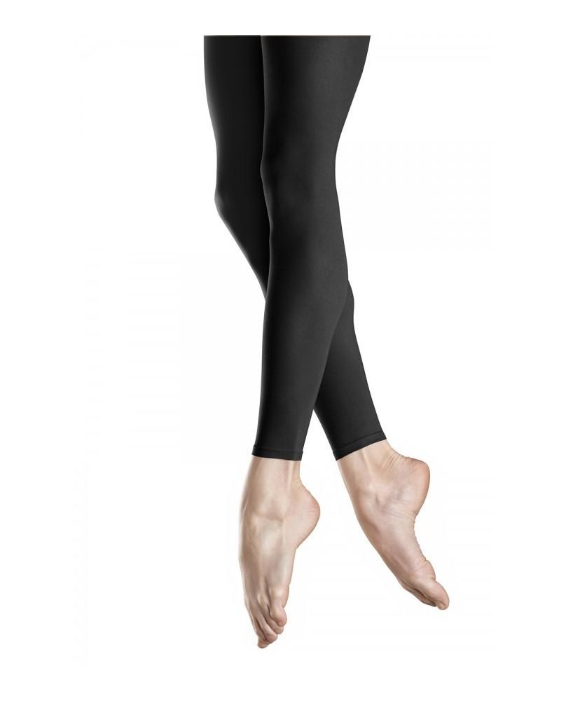 Schwarze Tanzstrumpfhose ohne Füße für Mädchen von 4 bis 14 Jahren
