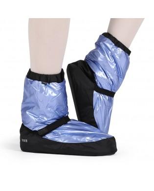 Blaue Metallic Booties