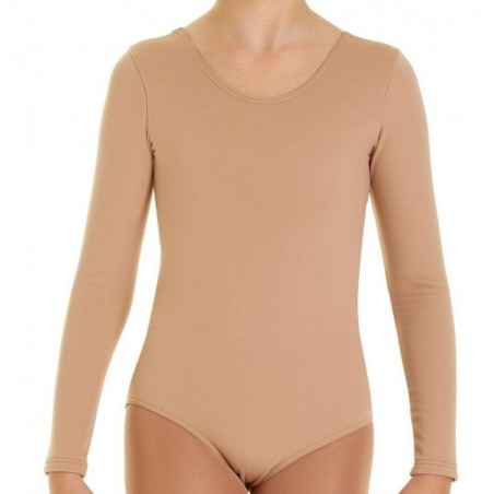 Fleece bodysuit with long sleeves