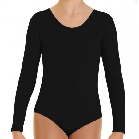 Fleece bodysuit with long sleeves