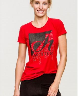 T-Shirt Femme Active Rouge