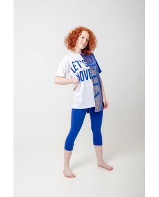T-shirt Oversize Hip Hop Bleu